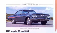 1961 1962 Chevrolet Impala SS Bel Air and 409 ci info/specs/photo/prices 11x8