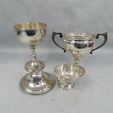 1.286KG Scrap Sterling Silver London Hallmarked Trophies & Sugar Bowl Vintage
