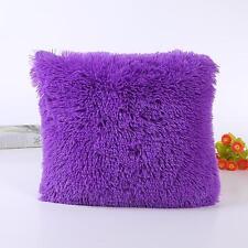 Fashion Winter Plush Pillow Case Sofa Waist Throw Cushion Car Cover Home Decor