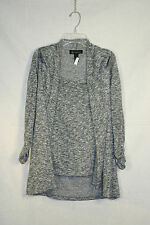 I-N-C silver, black and white knit blouse, size S
