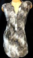 Westport 1962 w62 brown tie dye floral paisley slinky stretch sleeveless top 2X