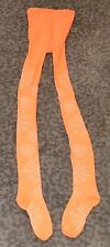 Unbranded Neon Orange Leggings, Spider Web design, Form fitting, No tags, footed