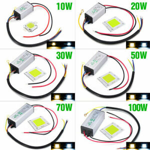 LED Driver Chip Power Supply Transformer 100W 50W 30W 20W 10W DC 12V-38V  Lights