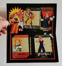 Carte Dragon ball Z Special PP Gold Metal Limited avec feuillet (non-officiel)