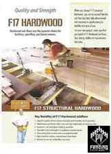 240 x 35 Hardwood F17 KD Set Lengths Fencing Bearers Joists $16.50plm
