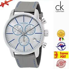 Calvin Klein Round Shape Gray Dial Gray Band Stainless Steel Mens watch K2G271Q4