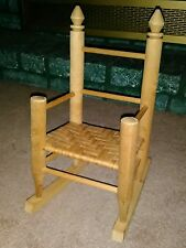 Wooden Doll Rocking Chair ~ Handcrafted! ~ Excellent Condition! ~Nice Accessory~