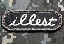 ILLEST TAB US ARMY USA ILL ISAF VELCRO® BRAND FASTENER SWAT OPS MORALE PATCH