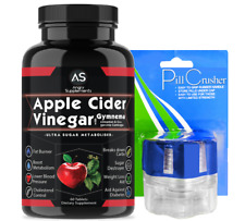 Angry Supplements Apple Cider Vinegar w. Garcinia Cambogia 1-pk + Pill Crusher