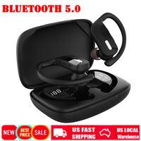 TWS Bluetooth Earbuds Stereo Sport Wireless Headphones in Ear Headset Earhook US