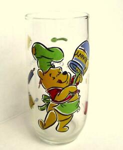 Pooh Drinking Glass Collectible Whats Cooking Pooh Hunny Pot Favorite