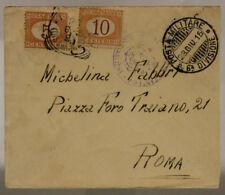 POSTA MILITARE 6^ DIVISIONE 23.6.1915 BUSTA CON SEGNATASSE TIMBRO REPARTO#XP252O