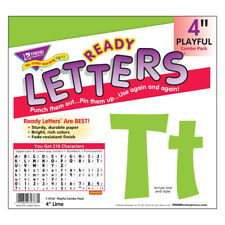 Lime 4-Inch Notice Board Display Letters Classroom Decoration 216 Characters
