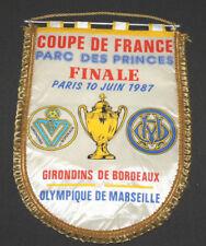 GRAND FANION OLYMPIQUE MARSEILLE OM BORDEAUX FINALE COUPE DE FRANCE 1987
