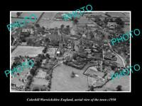 OLD LARGE HISTORIC PHOTO OF COLESHILL ENGLAND, AERIAL VIEW OF TOWN c1950 2