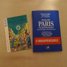 PLANS DE PARIS: PARIS STREET INDEX MAPS (FRENCH ED) By Atlas USED w/pocket map