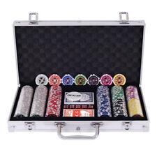 Cas de Poker Set Poker Set Poker Chips Laser 300 jetons de boîtier en aluminium
