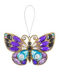 Ganz Crystal Expression Acrylic Purple Butterfly Orn Suncatcher Free Ship