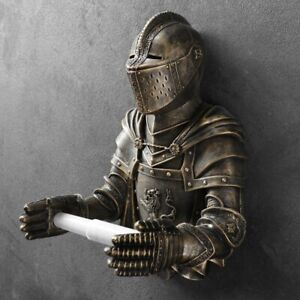 Bronze Knight Toilet Paper Holder Wall Mounted Toilet Paper Roll Holder