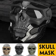 Skull Tactical Airsoft Mask Paintball Military CS Full Face Helmet   E