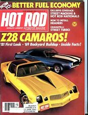 Hot Rod Magazine September 1980 Z28 Camaro VG w/ML 051217nonjhe