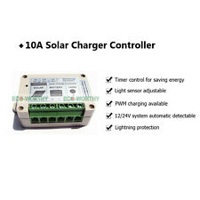 10A 12V/24V PWM Solar Charge Controller W/ Timer Light Senor for Solar Panel