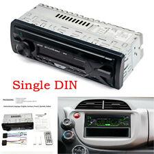 Single DIN Bluetooth Car Stereo Audio In-Dash FM Aux SD USB MP3 Player Radio