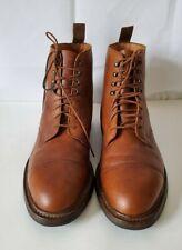 Crockett & Jones Coniston Cognac Pebble Grain Leather Cap Toe Boots 10.5 D
