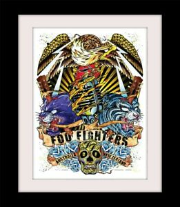 FOO FIGHTERS Australia. New Zealand Print Mounted or Framed FREE POSTAGE ref34