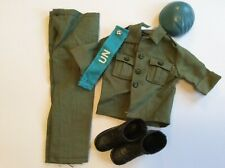 Vintage Action Man United Nations UN Peace Force Complete Uniform Missing Badge