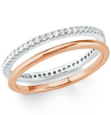 s.Oliver 2021012 Damen Ring 925 Silber und Rose Gr.50 neu