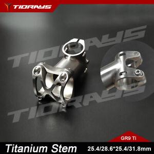 Tiorays Titanium CNC Bike Bicycle Stem 50-120mm 28.6/25.4*25.4/31.8 Custom Angle