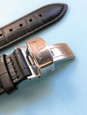 NEW WATCH STRAP Genuine Leather 20mm OMEGA Black SEAMASTER SPEEDMASTER + GIFT