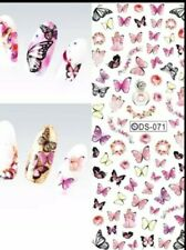 Butterfly Nail Water Decals nail tattoo art designs