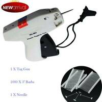 Regular Garment Clothes Price Label Tag Tagging Gun 1000 3'' Barbs +1 Needle HOT