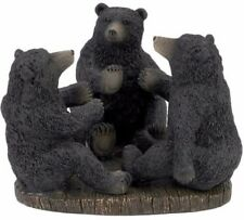 3 Bear Toothbrush Holder Bathroom Accessory Storage Decor Stand Rack Black New