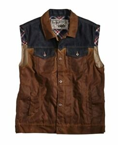 Rokker Motorcycle Vest - Mixed Canvas