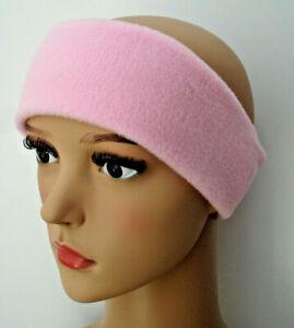Headband PALE LIGHT PINK sport ladies fleece ear head warmer muff hat ski sweat
