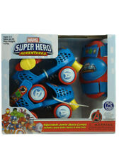 Marvel Super Hero Adventures Roller Skate Combo Set with Knee Pads Age 3-5 New