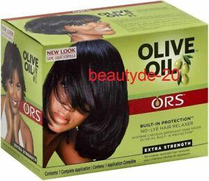 Organic Root Stimulator Olive Oil Hair Relaxer Kit-EXTRA STRENGTH-Free UK Post!!