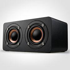 M5 Wooden HIFI Wireless Bluetooth Speaker 3D Stereo Dual Shock Bass Loudspeakers