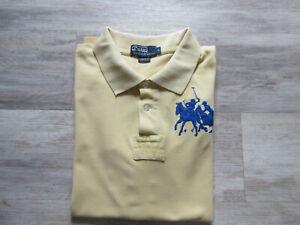 polo homme RALPH LAUREN taille L jaune coton manches courtes