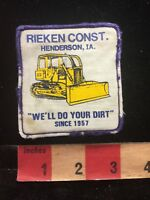 Vtg & As-Is RIEKEN CONSTRUCTION Henderson Iowa Patch - Bulldozer 87E0