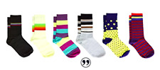 6PK Men's Patterned Dress Socks Business Fun Colorful Cotton Men Women Gift Box