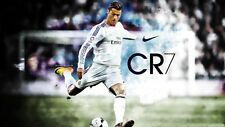 "Cristiano Ronaldo Football Soccer Star Fabric Poster 24"" x 13"" Decor 46"