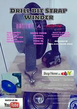 Drill Bit Strap Winder X4. - The easiest and fastest way to wind up truck straps