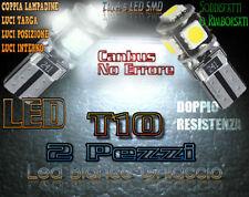 RANGE ROVER SPORT LUCI POSIZIONE TARGA INTERNO T10 A 5 LED SMD BIANCO GHIACCIO