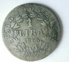 1866 VATICAN (PAPAL STATE) LIRA - Excellent Rare Silver Coin - Lot #F26