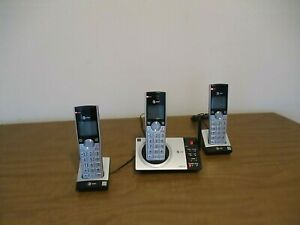 AT&T CL82307 3 Handset Cordless Answering Machine - System Silver/Black