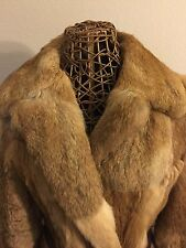REAL Rabbit Fur COAT Long size medium